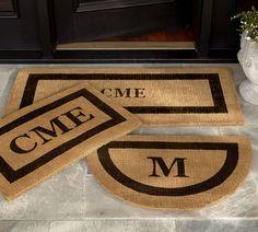Monogrammed Door Mat Large Door Mats, Front Door Mats, Front Doors, Front Porch, Outdoor Rugs, Indoor Outdoor, Outdoor Living, Diy Monogram, Monogram Doormat