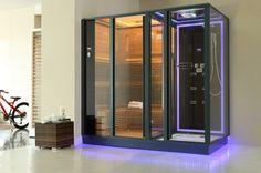Sauna Steam Room With Soft LED Light Tűzhely, Spa