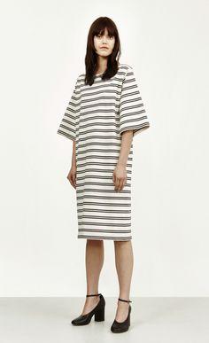 Marimekko Dress, Striped Jersey, Straight Cut, Second Hand, Striped Dress, Dress Making, Everyday Fashion, Henna, Hemline