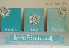 Use this as a card idea: faith, joy, peace on individual rectangles.