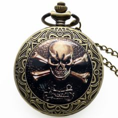 Watch Motorcycle Skull Crossbones