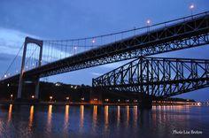 Les ponts Pierre Laporte et le pont de Québec