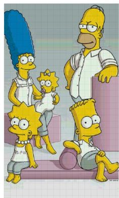 Simpsons cross stitch pattern