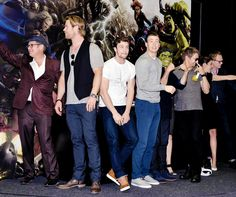 Chris Evans and the cast of Avengers: Age of Ultron