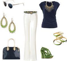 Navy and Lime, created by djw4215 on Polyvore
