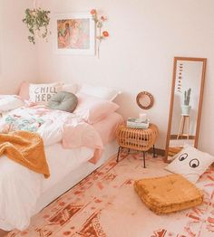 room makeover bedroom 36 About IKEA Bedroom Makeov - roommakeover Room Ideas Bedroom, Cute Bedroom Ideas, Bedroom Inspo, Girl Bedroom Designs, Girls Bedroom, Bright Bedroom Ideas, Ikea Bedroom Decor, Warm Bedroom Colors, Colourful Bedroom