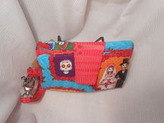 $ Day of the Dead Wallet Clutch, Dia de los Meurtos, Womens Wallet, Wristlet Wallet, Sugar Skull Wallet, Large Wallet, Swoon Patterns by DaysBetweenDesigns on Etsy
