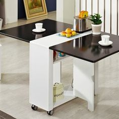 Gmarket - [Haesung Furniture] Folding Table/Kitchen Island Table...