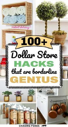 Dollar store hacks that are perfect for DIY projects. These dollar store crafts will really help you organize, clean and decorate your home! I've become a bit of a connoisseur for dollar store hacks. Here are of the best ones that are simply ingenious!