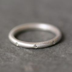 8 Diamond Sterling Silver Ring. by Michelle Chang Jewelry. via Etsy.