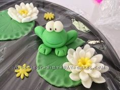 Cutest Frogs in a Pond Birthday Cake ... This website is the Pinterest of birthday cakes