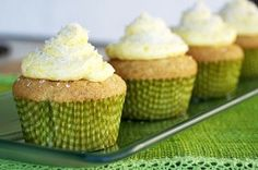 mango filled coconut cupcakes with mango buttercream
