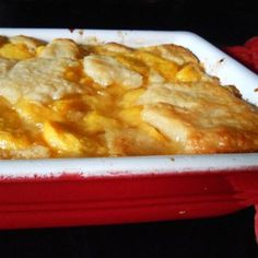 """Chef John's Peach Cobbler 