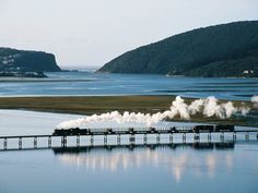 Knysna Lagoon with the Heads in the back ground - South Africa. Trains, Places To Travel, Places To Visit, Knysna, Out Of Africa, Africa Travel, Countries Of The World, South Africa, Beautiful Places
