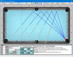PoolShot, The Pool Aiming Training Software - PoolShot Skill Test Level 1 Training Software, Play Pool, Billiards Pool, Shots, Tips, Hacks