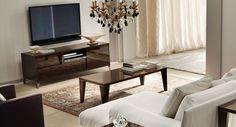 "ALF Soprano Modern Italian Coffee Table. Dimensions: W53"" x D28"" x H16"" Color: Other Finish:  Veneer -"