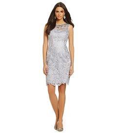 8506e799b64 Adrianna Papell Embellished Lace Cocktail Dress Mob Dresses