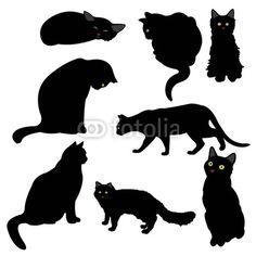 black cat vector art