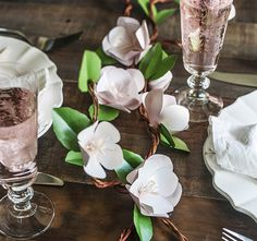 Paper Apple Blossoms | 10 Ways To DIY Gorgeous Flowers For May Day