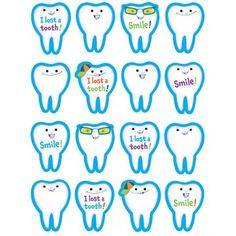 I Lost A Tooth Stickers