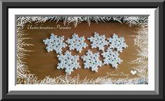 Eisblumen Sie sind ein echter hingucker und schnell gearbeitet . Man kann sie als Baumschmuck, Fensterschmuck, Wandschmuck, oder auch als Geschenk verwenden.  Sie werden mit reiner 100 % Baumwolle gehäkelt .