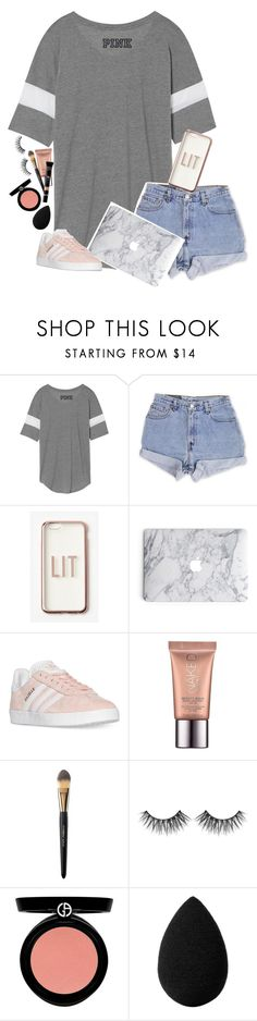 """""""She's So Lucky, She's A Star, But She Cry, Cry, Cries, In Her Lonely Heart"""" by graciegirl2015 ❤ liked on Polyvore featuring Levi's, Missguided, adidas, Urban Decay, Dolce&Gabbana, Huda Beauty, Armani Beauty, beautyblender, MAKE UP FOR EVER and graciejaysbestwork"""