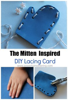 The Mitten Inspired DIY Lacing Card Enjoy this mitten lacing card book based activity as you read The Mitten by Jan Brett with your preschooler ( or toddler). Source by Ideas winter Winter Crafts For Kids, Winter Fun, Winter Theme, Winter Preschool Activities, Sequencing Activities, Group Activities, Preschool Themes, Preschool Lessons, Preschool Printables