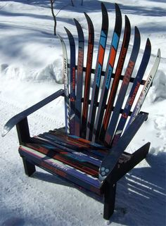 a more modern take on the Adirondack ski chair