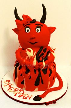 Halloween cute she devil cake