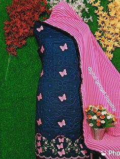 Embroidery Suits Punjabi, Embroidery On Kurtis, Embroidery Suits Design, Embroidery Dress, Embroidered Blouse, Machine Embroidery, Embroidery Designs, Punjabi Suits Party Wear, Indian Party Wear