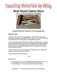 novel book reports