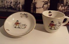 Vintage Shenango china child's cup and saucer  by wonderdiva, $35.00