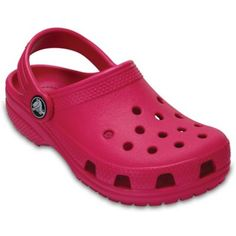 af1f672a69c Your little girl will love wearing these Crocs Kids  Classic Clogs that  feature the signature ventilated holes. These lightweight slip-on shoes  have a heel ...