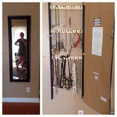DIY - jewelry box. Necklace holder. Mirror storage