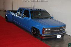 Trey from Twisted Creationz dually at sema! Bagged Trucks, Trucks Only, Lowered Trucks, Dually Trucks, Mini Trucks, Pickup Trucks, 85 Chevy Truck, Chevy Pickups, Chevrolet Silverado