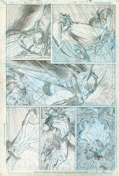 Original Comic Art titled All Star Batman & Robin page 9 (unpublished), located in Eric's ARTHUR ADAMS - All Star Batman story Comic Art Gallery Comic Book Pages, Comic Book Artists, Comic Books Art, Comic Art, Batman Story, Batman Art, Batman Robin, Dc Comics Art, Comic Panels
