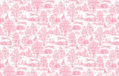 Pink toile and skinny dogs - I have to get something upholstered in this.