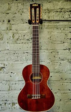 Description The ukulele equivalent of the 12 string guitar, the 8 string produces a gorgeous, chorus like sound with the Kala Mahogany Series signature full-bodied tone. Traditional white binding on t