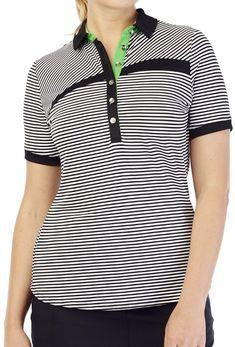 4e683840ea1b6 Bali (Guru) GGblue Ladies Kesha Short Sleeve Golf Shirt. More ladies golf  outfits