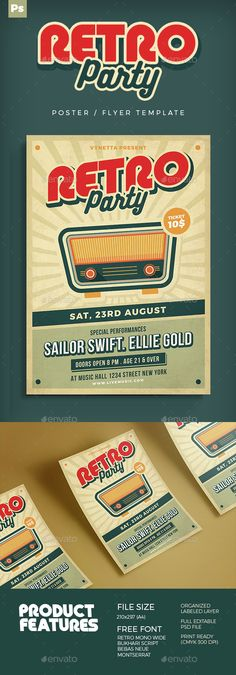Music Poster / Flyer — Photoshop PSD #oldies flyer #grunge • Available here →…