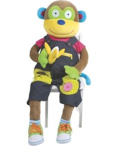 This 4-foot tall monkey is enormously fun--and educational! Young kids can practice dressing activities, like lacing up sneakers and slipping on socks, that develop fine motor skills. Click above to buy one!