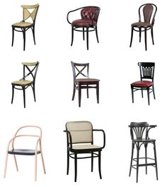 The Chair Market's selection of creatively designed and original Thonet restaurant bentwood chairs. his simple, well-designed chair is known for its style, comfort, and affordability. Check them our at our Miami Showroom, call 305-697-2217 for details.