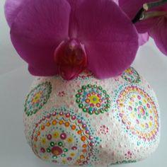Mandala Stein dots allover Dekoration Garten Geschenk Hochzeit Geburtstag Muttertag Verlobung Blumenliebhaber Briefbeschwerer von StoneArt2015 auf Etsy