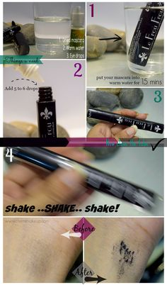 a pictorial of how-to fix dry mascara