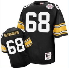 Greenwood Men s Authentic Black Jersey  Mitchell and Ness NFL Pittsburgh  Steelers Home Throwback 9d92e6b89