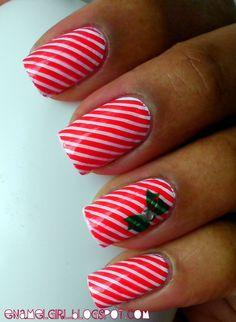 Candy cane stripes.