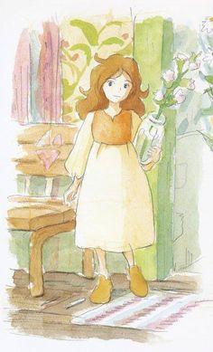 My ALL time favorite Studio Ghibli character ARRIETTY <3