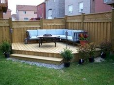Back deck designs ideas for small spaces on a budget small backyard patio designs Large Backyard Landscaping, Backyard Ideas For Small Yards, Backyard Patio Designs, Small Backyard Landscaping, Patio Ideas, Landscaping Ideas, Backyard Privacy, Terraced Backyard, Fence Ideas