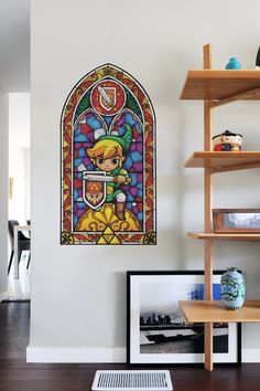The Legend of Zelda comes to Blik in eight stained glass wall decals based on artwork from The Legend of Zelda: The Wind Waker HD. Zelda Wind Waker: Sword features Link with the sword and shield.