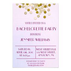 Confetti Bachelorette Party Invitations